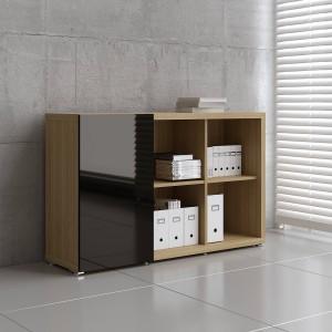 Mito MIT18 Low Office Storage Unit w/Sliding Door by MDD Office Furniture