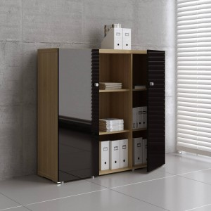 Mito Medium Office Storage Unit w/2 Doors by MDD Office Furniture