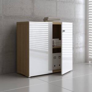 Mito Low Office Storage Unit w/2 Doors by MDD Office Furniture