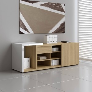Mito Low Managerial Storage w/Sliding Door & Extension by MDD Office Furniture
