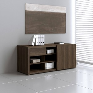 Mito Low Managerial Storage w/Sliding Door by MDD Office Furniture