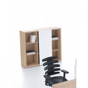 Mito Medium Office Storage Unit w/Sliding Door by MDD Office Furniture
