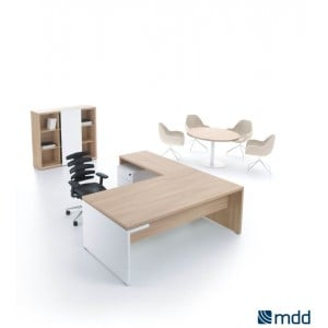 Mito Executive Composition 1, Light Sycamore by MDD Office Furniture