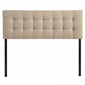 Lily Queen Fabric Headboard, Beige by Modway Furniture