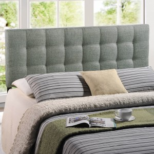 Lily Queen Fabric Headboard, Gray by Modway Furniture