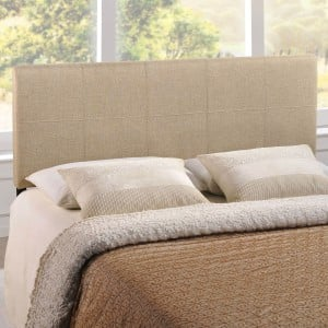 Oliver Queen Fabric Headboard, Beige by Modway Furniture