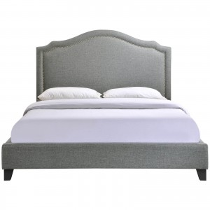Charlotte Queen Bed, Gray by Modway Furniture