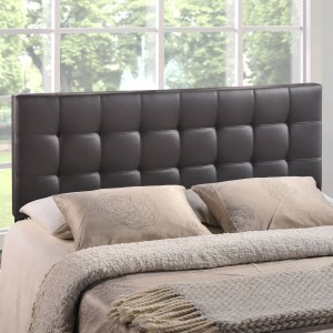Lily Queen Vinyl Headboard, Brown by Modway Furniture