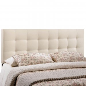 Lily King Fabric Headboard, Ivory by Modway Furniture