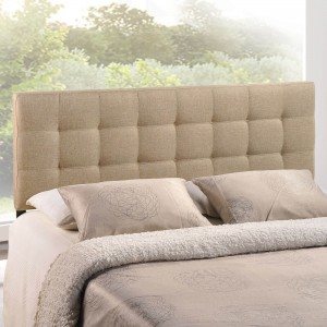 Lily Full Fabric Headboard, Beige by Modway Furniture