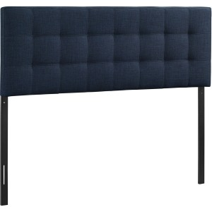 Lily Full Fabric Headboard, Navy by Modway Furniture