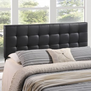 Lily Full Vinyl Headboard, Black by Modway Furniture