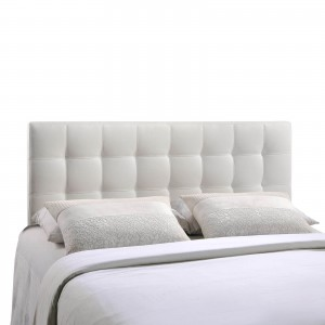 Lily Full Vinyl Headboard, White by Modway Furniture