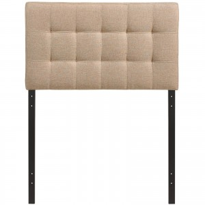 Lily Twin Fabric Headboard, Beige by Modway Furniture