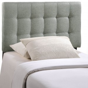 Lily Twin Fabric Headboard, Gray by Modway Furniture