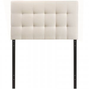 Lily Twin Fabric Headboard, Ivory by Modway Furniture
