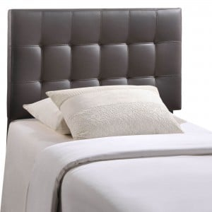 Lily Twin Vinyl Headboard, Brown by Modway Furniture