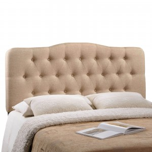 Annabel Queen Fabric Headboard, Beige by Modway Furniture