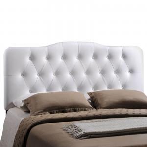 Annabel Queen Vinyl Headboard, White by Modway Furniture