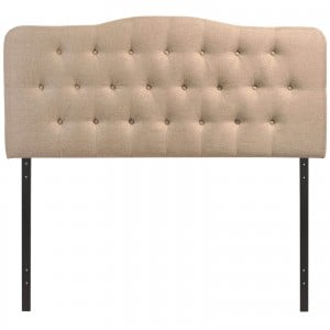 Annabel Full Fabric Headboard, Beige by Modway Furniture