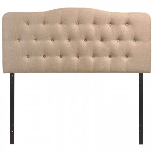 Annabel King Fabric Headboard, Beige by Modway Furniture