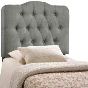 Annabel Twin Fabric Headboard, Gray by Modway Furniture