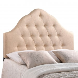 Sovereign Queen Fabric Headboard, Beige by Modway Furniture