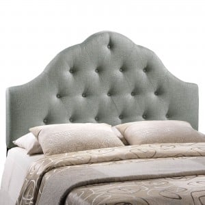 Sovereign Queen Fabric Headboard, Gray by Modway Furniture