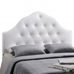Sovereign Queen Vinyl Headboard, White by Modway Furniture