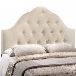 Sovereign King Fabric Headboard, Ivory by Modway Furniture