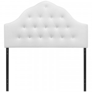 Sovereign King Vinyl Headboard, White by Modway Furniture