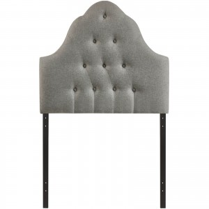 Sovereign Twin Fabric Headboard, Gray by Modway Furniture