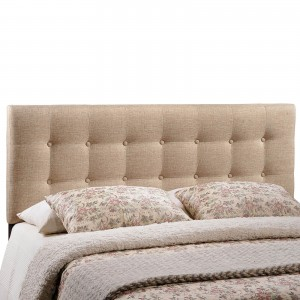 Emily Queen Fabric Headboard, Beige by Modway Furniture