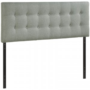 Emily Queen Fabric Headboard, Gray by Modway Furniture