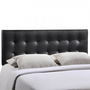 Emily Queen Vinyl Headboard, Black by Modway Furniture