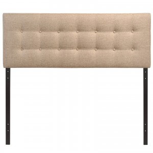 Emily Full Fabric Headboard, Beige by Modway Furniture