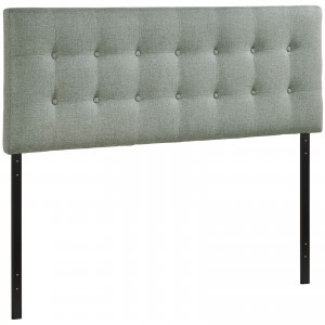 Emily Full Fabric Headboard, Gray by Modway Furniture