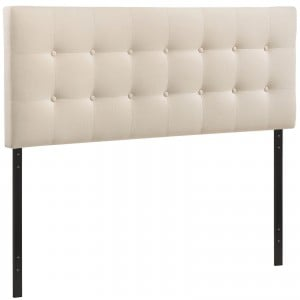 Emily Full Fabric Headboard, Ivory by Modway Furniture