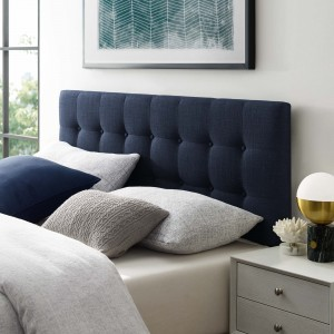 Emily Full Fabric Headboard, Navy by Modway Furniture