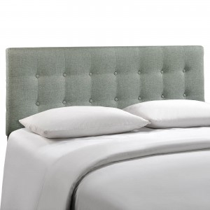 Emily King Fabric Headboard, Gray by Modway Furniture