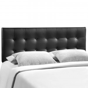 Emily King Vinyl Headboard, Black by Modway Furniture