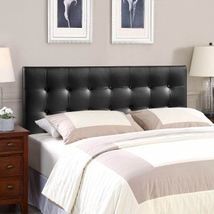 Emily King Vinyl Headboard, White by Modway Furniture