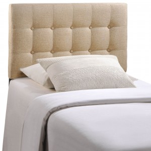 Emily Twin Fabric Headboard, Beige by Modway Furniture
