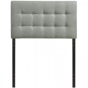 Emily Twin Fabric Headboard, Gray by Modway Furniture