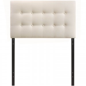 Emily Twin Fabric Headboard, Ivory by Modway Furniture
