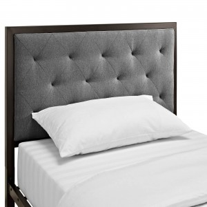 Mia Twin Fabric Bed by Modway Furniture