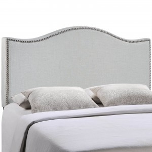 Curl Full Nailhead Upholstered Headboard, Gray by Modway Furniture