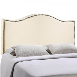 Curl Full Nailhead Upholstered Headboard, Ivory by Modway Furniture