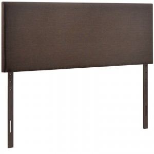 Region Queen Upholstered Headboard, Dark Brown by Modway Furniture