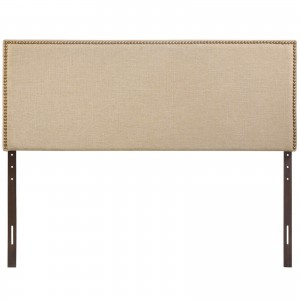 Region Queen Nailhead Upholstered Headboard, Cafe by Modway Furniture